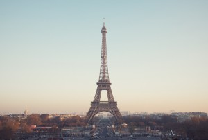 Eiffel Tower with cityscape